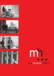 independent, professional, committed … with your support medienhilfe
