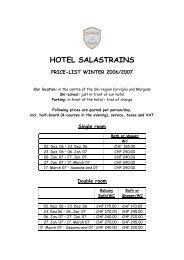 Double room - Hotel Restaurant Salastrains St.Moritz