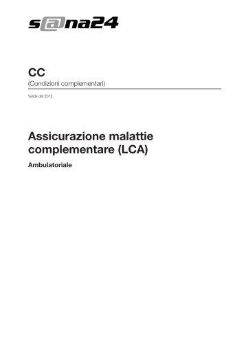 Assicurazione malattie complementare (LCA) CC