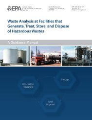Waste Analysis at Facilities that Generate, Treat, Store, and Dispose ...