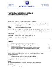 PROTOKOLLAUSZUG DER SITZUNG DES GEMEINDERATES 02/12