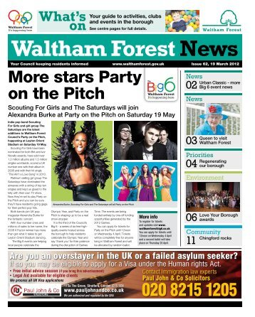 Issue 62: More stars Party on the Pitch - Waltham Forest Council