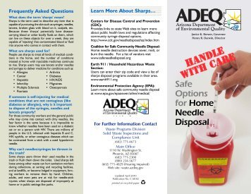 Safe Options for Home Needle Disposal