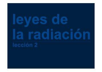 Leyes de la radiación