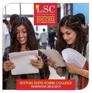 pROSpECTuS - Leyton Sixth Form College
