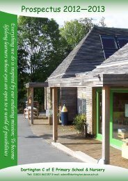 Prospectus 2012—2013 - Dartington C E Primary School and Nursery
