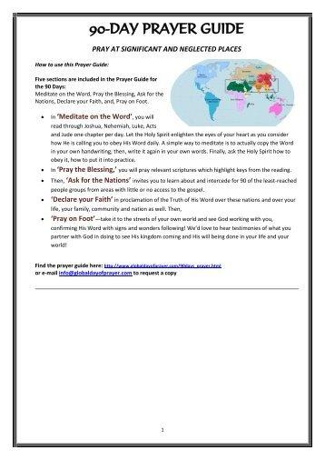 90-Day Prayer Guide (30 Days x3) - Global Day of Prayer