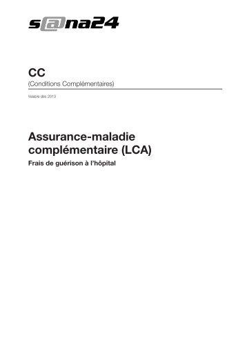 Assurance-maladie complémentaire (LCA) CC