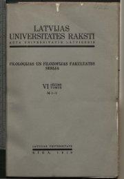 UNIVERSITATES RAKSTI - DSpace - Latvijas Universitāte