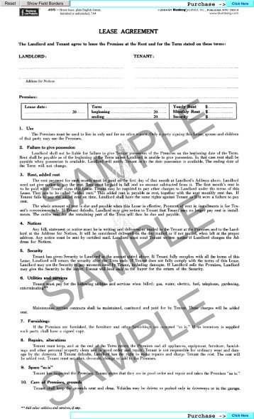 Leasing Dinosaurs Blumberg Legal Forms Online