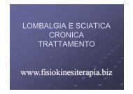 lombalgia e sciatica cronica trattamento - Fisiokinesiterapia.biz