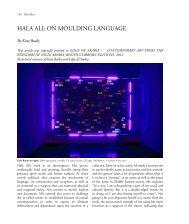 HALA ALI: ON MOULDING LANGUAGE - Contemporary Practices