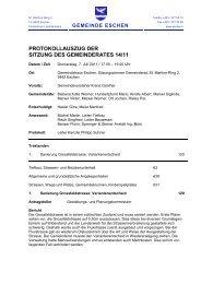 PROTOKOLLAUSZUG DER SITZUNG DES GEMEINDERATES 14/11