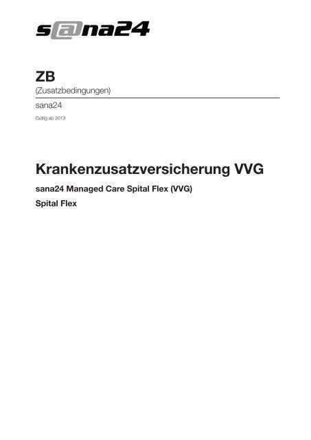 Krankenzusatzversicherung VVG ZB - sana24 - Die