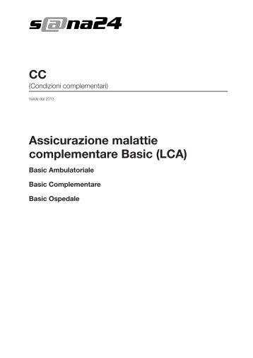 Assicurazione malattie complementare Basic (LCA) CC