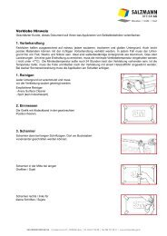 Verklebe Hinweis 1. Vorbehandlung 1. Reinigen ... - Salzmann Design