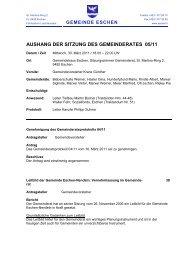 AUSHANG DER SITZUNG DES GEMEINDERATES 05/11