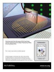 A chip-to-chip nanoliter microfluidic dispenser - Huang Group