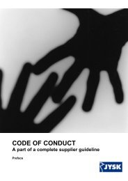 CODE OF CONDUCT - Jysk