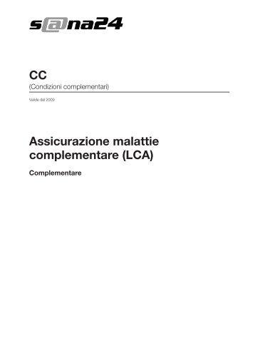 Assicurazione malattie complementare (LCA) Complementare - CC ...