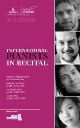 Download the International Pianists in Recital program book