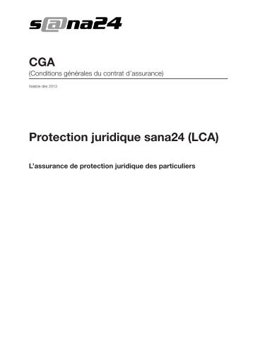 Protection juridique sana24 (LCA) CGA