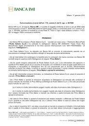 Milano, 17 gennaio 2012 Comunicazione ai sensi ... - Borsa e Mercati