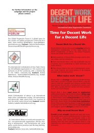 Time for Decent Work for a Decent Life