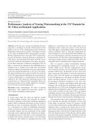 Performance Analysis of Tracing Watermarking ... - Ashdin Publishing