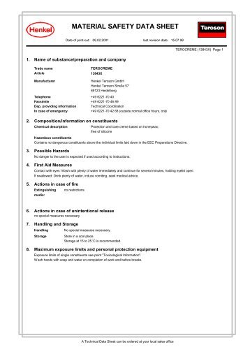 material safety data sheet - Akd Tools