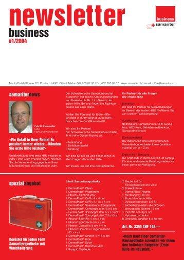 newsletter business #1/2004 spezialangebot - Der Schweizerische ...