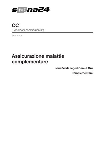 Assicurazione malattie complementare CC