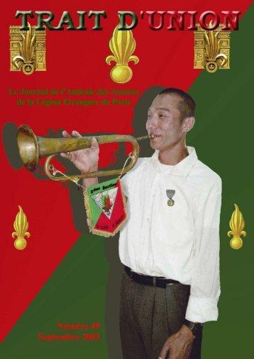 Septembre 2003 - Amicale des Anciens de la Légion Etrangère de ...