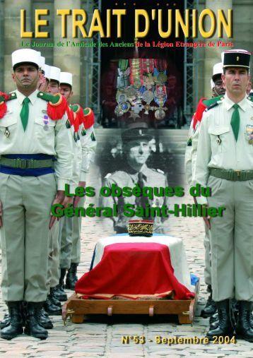Octobre 2004 - Amicale des Anciens de la Légion Etrangère de ...