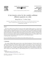 A fast iterative solver for the variable coefficient diffusion equation on ...