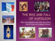 Who was Napoleon and what was effect did he have on European ...