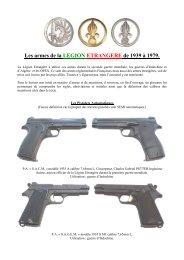 Les armes de la Légion Etrangère de 1939 - Monsieur Légionnaire