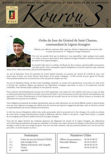 Sommaire Numéros Utiles Ordre du Jour du Général de Saint ...