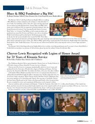 Club & Division News Blues & BBQ Fundraiser a ... - Florida Kiwanis