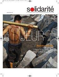 Numéro spécial de ''Solidarité'' sur la campagne