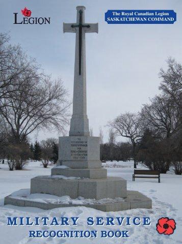 MILITARY SERVICE MILITARY SERVICE - Saskatchewan Legion