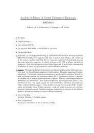 Analytic Solutions of Partial Differential Equations - School of ...