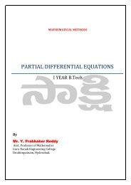 PARTIAL DIFFERENTIAL EQUATIONS - sakshieducation.com