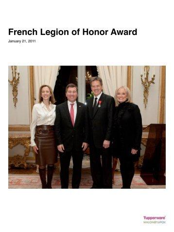 French Legion of Honor Award