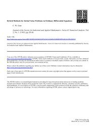Hybrid Methods for Initial Value Problems in Ordinary Differential ...