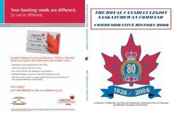 the royal canadian legion saskatchewan command commemorative ...