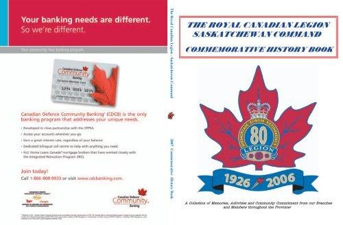 The Royal Canadian Legion Saskatchewan Command Commemorative
