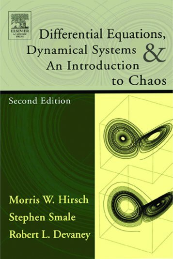 Differential Equations, Dynamical Systems, and an Introduction to ...