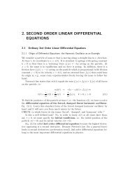 2. SECOND ORDER LINEAR DIFFERENTIAL EQUATIONS