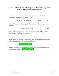 Second Order Linear Nonhomogeneous Differential Equations ...